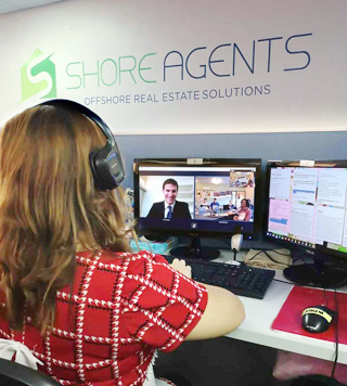 Real Estate Virtual Assistant Talking to his client over Skype