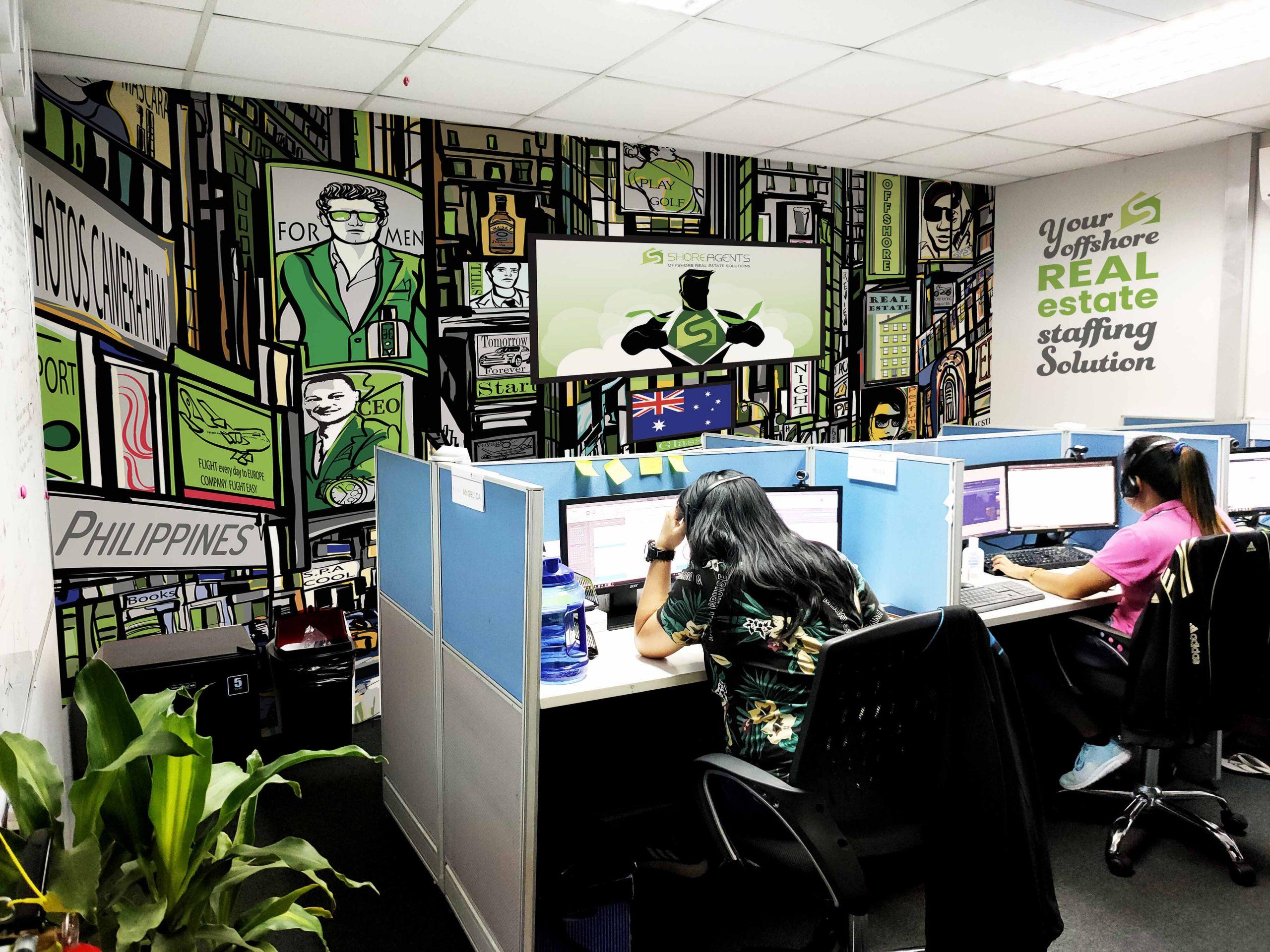 ShoreAgents Wall Design Display