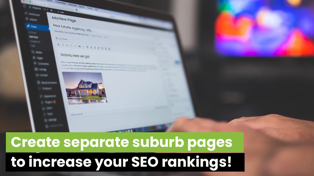 suburb pages for SEO Rankings