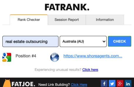 real estate outsourcing rank